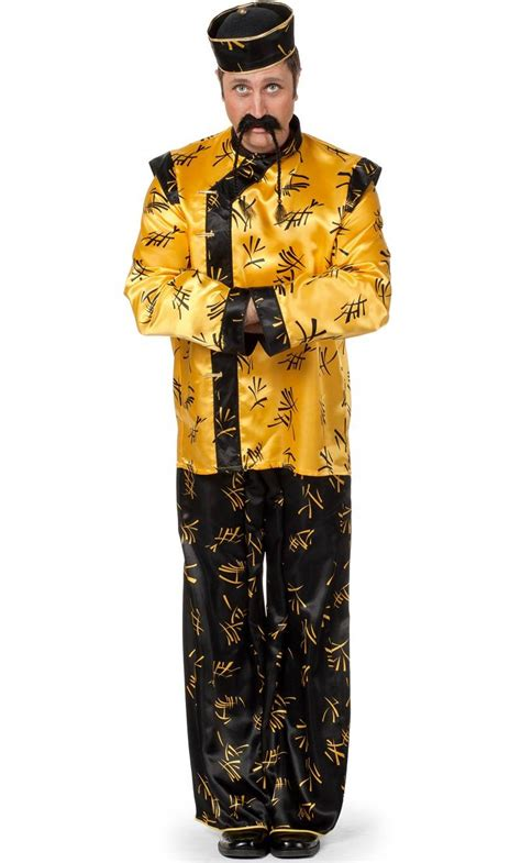 Costume chinois homme grande taille-v19814