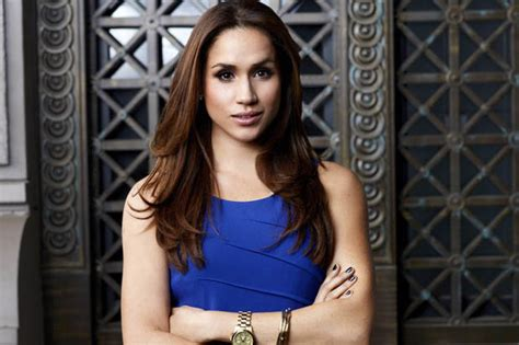 Suits star Meghan Markle swaps skimpy outfits for baggy